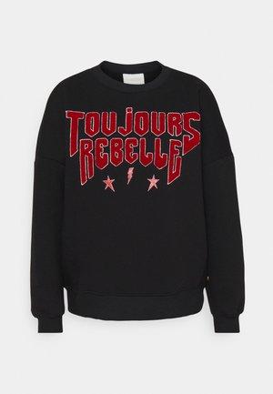 TOUJOURS REBELLE DROPPED SHOULDER - Sweatshirt - black