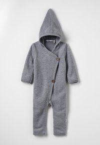 Müsli by GREEN COTTON - SUIT WITH HOOD BABY - Overall / Jumpsuit - pale greymarl - 0