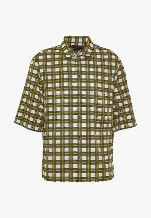 ISAAC CHECK - Camicia - mustard