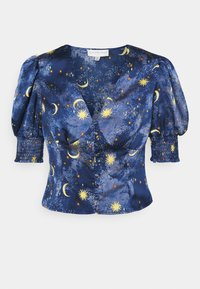 Never Fully Dressed Petite - MOON STARS SHORTSLEEVE LINDOS - Blouse - navy/multi - 0