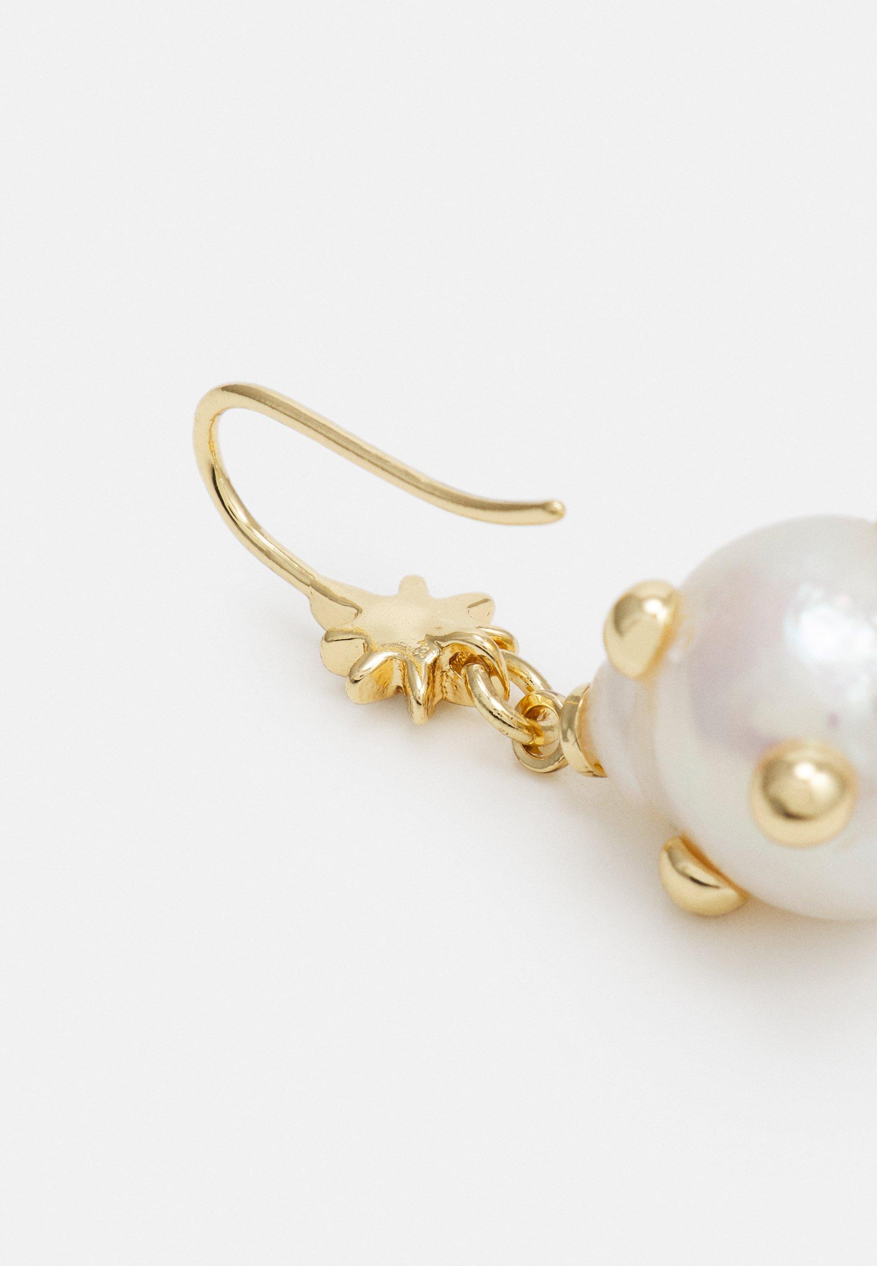 Rebecca Minkoff Studded Baroque Drop Earring - Ohrringe Gold-coloured/gold