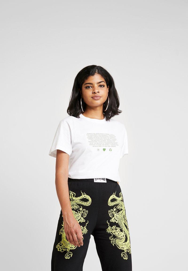 NEW girl ORDER - MANIFESTO - T-shirts print - white