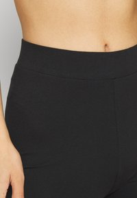 Even&Odd - High Waist Leggings with Lace Detail - Leggings - Trousers - black - 6