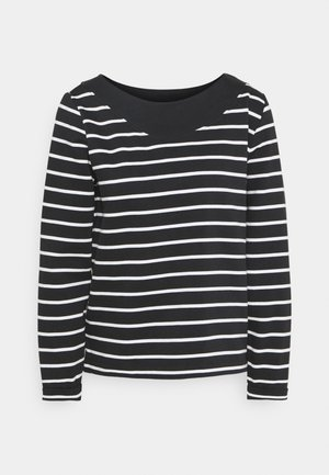 STRIPED - Sweatshirt - black
