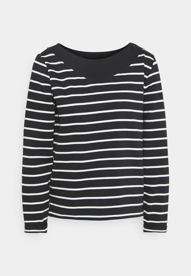 STRIPED - Bluza - black