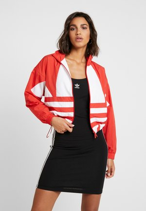 LOGO - Training jacket - lush red/white