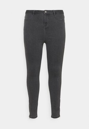 LAWLESS  HIGHWAISTED SUPERSOFT ANKLE ZIP - Jeans Skinny Fit - grey