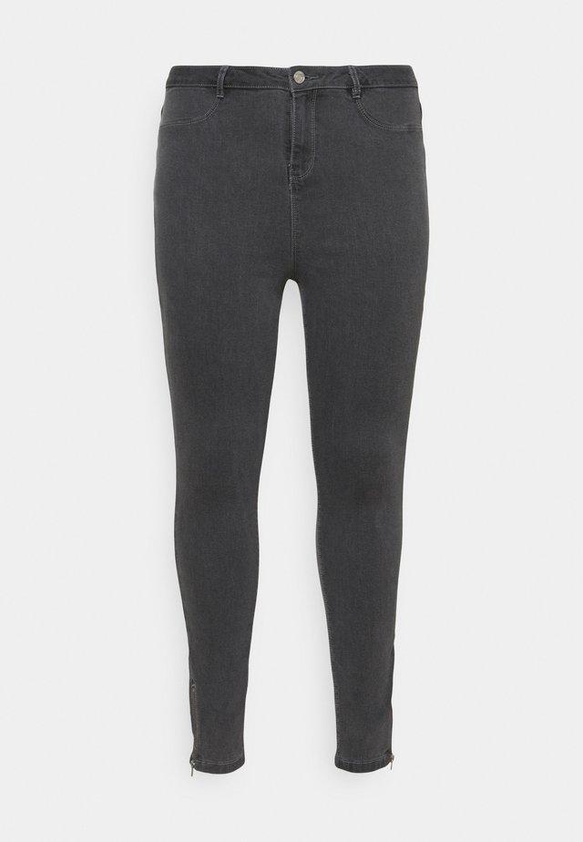 LAWLESS  HIGHWAISTED SUPERSOFT ANKLE ZIP - Skinny džíny - grey