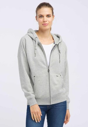 veste en sweat zippée - light gray melange