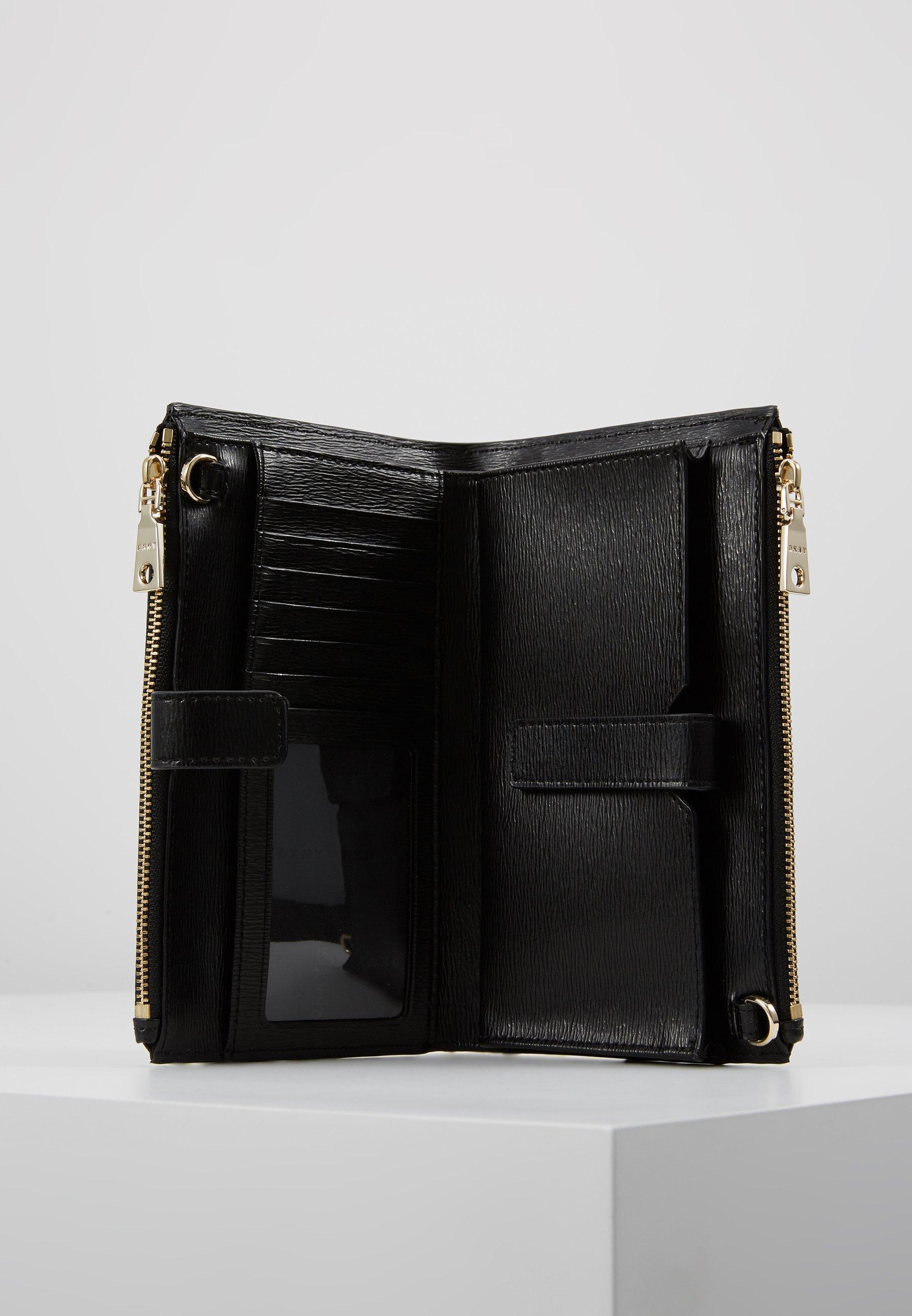 DKNY BRYANT DOUBLE ZIP CBODY WALLET - Skulderveske - black/gold-coloured/svart cyRs7W130T7uNDE