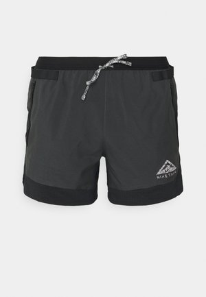 TRAIL - Sports shorts - black/dark smoke grey/white