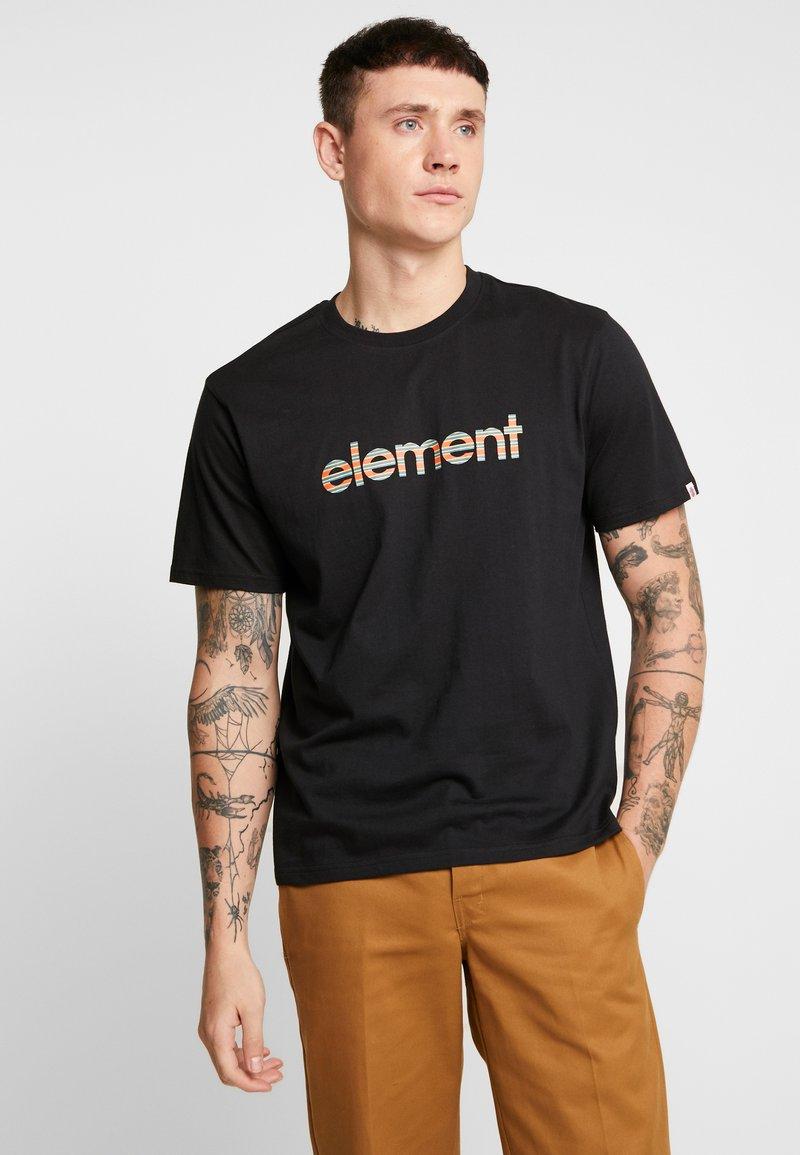 Element - EDDIE - Print T-shirt - flint black