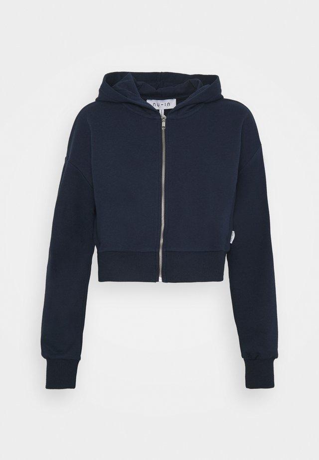 ZIP UP CROPPED HOODIE - Sweatshirt - navy