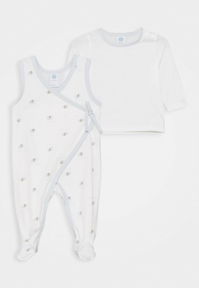 OVERALL ALLOVER SET  - Pigiama - white pebble