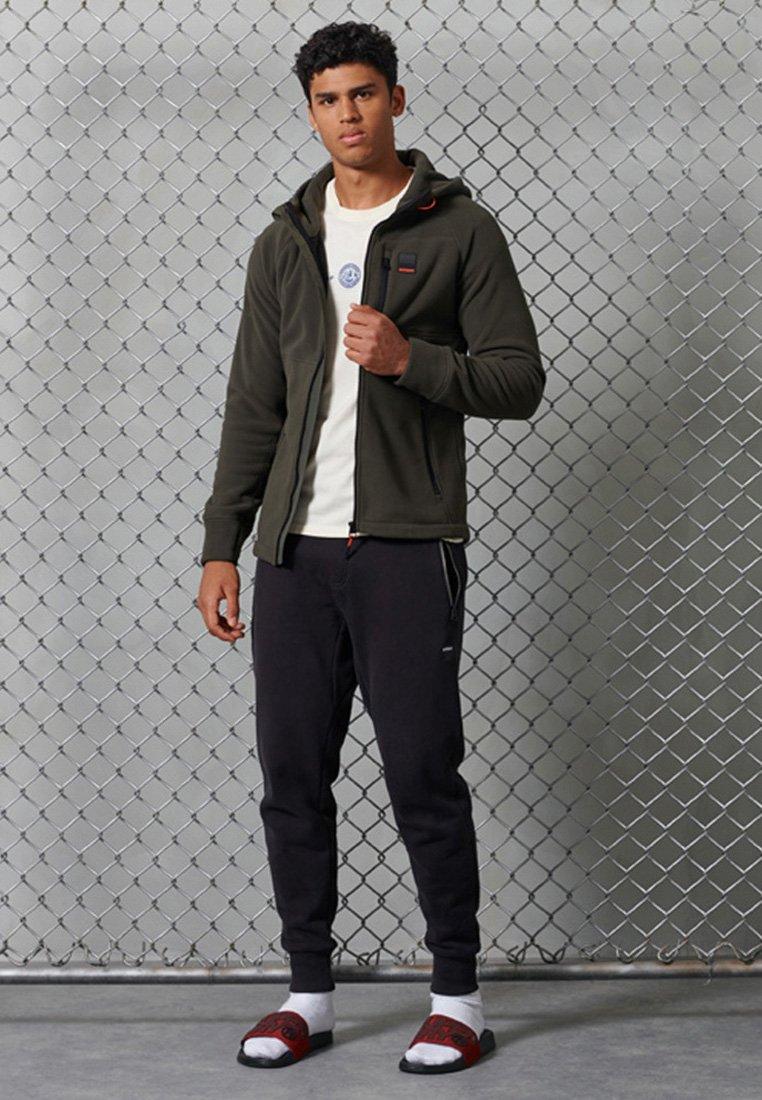 Superdry - POLAR FLEECE - Zip-up hoodie - dark grey green