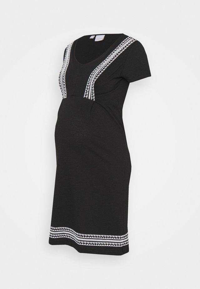 MLSLOAN MARY DRESS - Sukienka z dżerseju - black/snow white