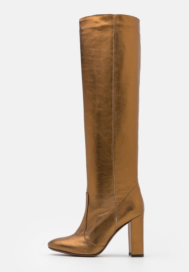 BOOT NO ZIP - Stivali con i tacchi - bronze