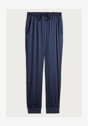 LANGE HOSE AUS SEIDE UND LYOCELL - Pyjama bottoms - blau - 383i - elegant blue