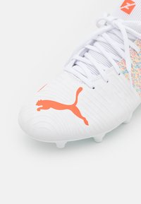 Puma - FUTURE Z 4.1 FG/AG - Moulded stud football boots - white/red blast - 5