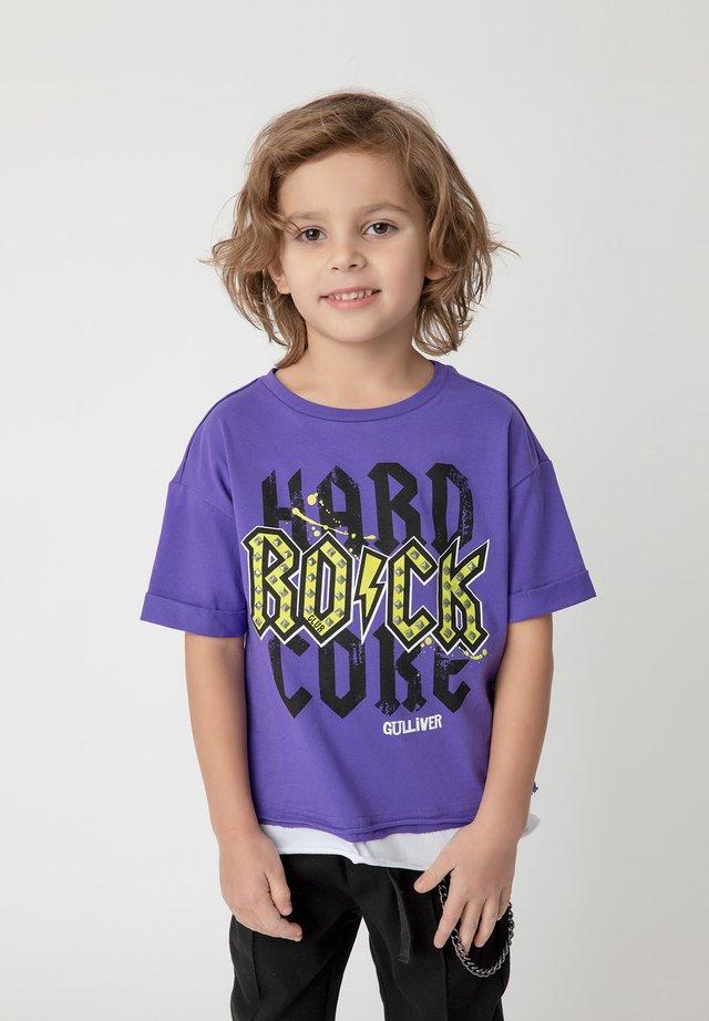 Print T-shirt - purple