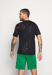 Nike Performance - PORTUGAL  - Print T-shirt - black/challenge red - 2