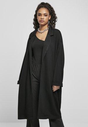 MODAL TERRY OVERSIZED  - Classic coat - black