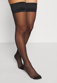 Bluebella - HOLD UPS BACKSEAM PLAIN - Overknee-strømper - black - 1