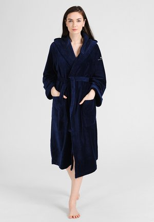 BASIC VELOURS - Dressing gown - navy