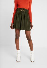 NAF NAF - EMARLY - Mini skirts  - urban khaki - 0
