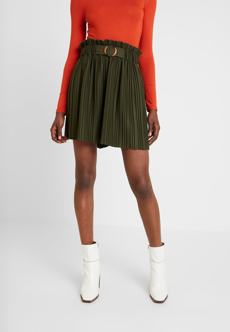 NAF NAF - EMARLY - Mini skirts  - urban khaki