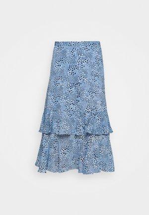 TIERED MIDI SKIRT - A-line skirt - blue