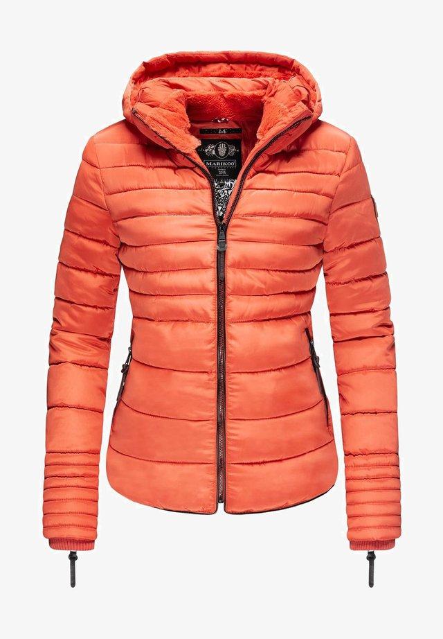 AMBER - Winter jacket - dark coral