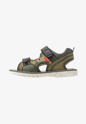 PEPPER - Walking sandals - kaki/marine