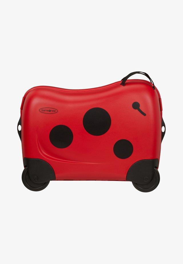 ZUM DRAUFSITZEN - Wheeled suitcase - dark red