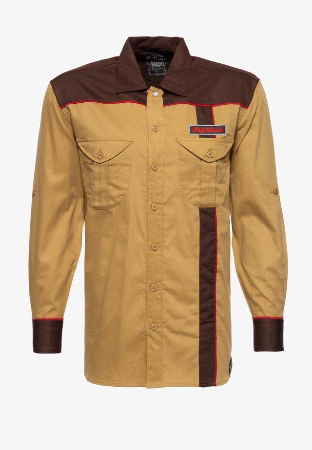 MIT STICKEREIEN FOREVER  - Overhemd - braun