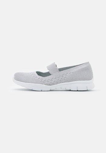 SEAGER - Ankle strap ballet pumps - light grey