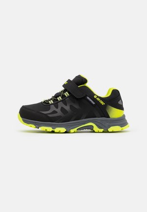YOMP WP JR UNISEX - Hiking shoes - black/lime green