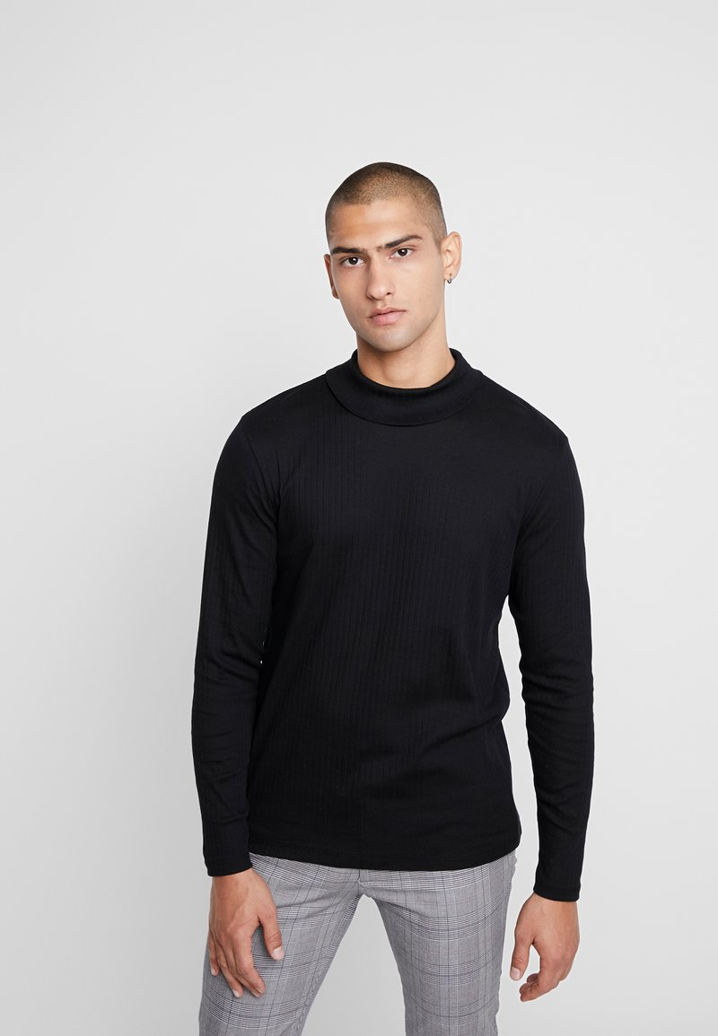 Jack & Jones PREMIUM - JPRLUTON LS TEE TURTLE NECK  - Langærmede T-shirts - black