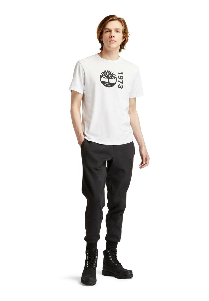 Timberland - SS BRANDED - Print T-shirt - white