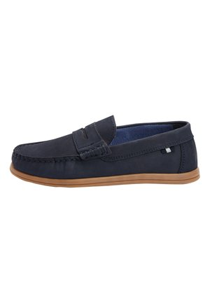 NAVY NUBUCK PENNY LOAFERS (OLDER) - Instappers - blue