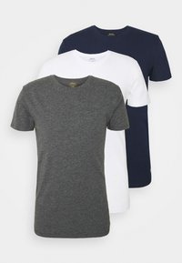navy/charcoal/white
