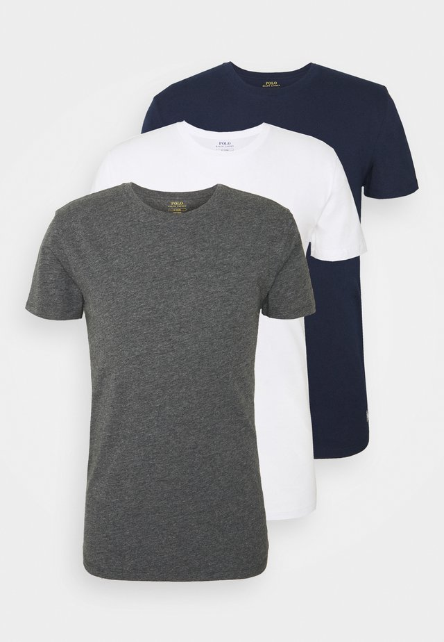3 PACK - Unterhemd/-shirt - navy/charcoal/white