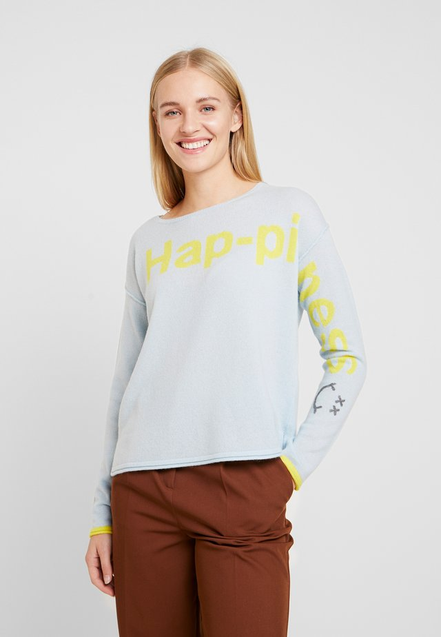HAPPINESS - Strikpullover /Striktrøjer - ice blue