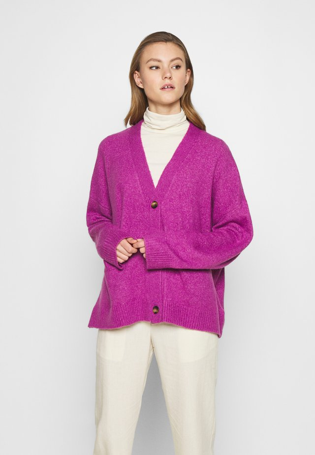 BOBBI - Chaqueta de punto - purple