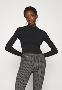 Even&Odd - 2 PACK- CROPPED JUMPER - Svetr - black/white - 4