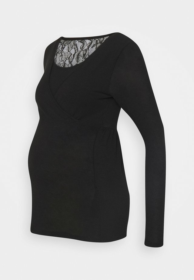 MLARTUR TESS - Maglietta a manica lunga - black/solid