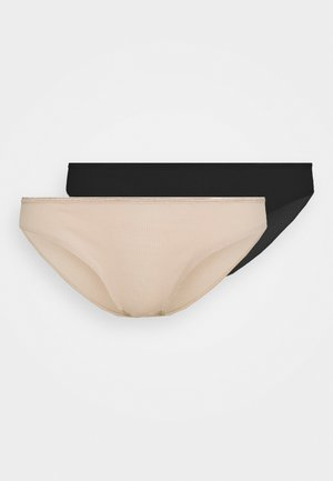 AURORA BRIEF 2 PACK - Briefs - black/nude