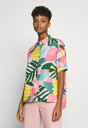 NIBE COLLAGE LEAVES - Button-down blouse - pink