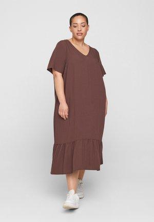 VMACY DRESS - Jersey dress - mocca