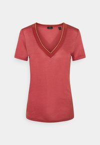Scotch & Soda - V NECK SHORT SLEEVE TEE WITH STRIPED DETAIL - Basic T-shirt - pink smoothie - 0